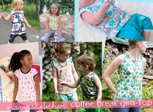 Schnittmuster für ein Mädchen-Kinder-Shirt