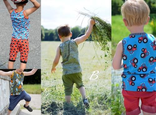 Nähanleitung und Schnittmuster für ein Jungs-T-Shirt