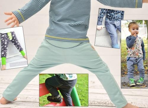 Nähanleitung und Schnittmuster für eine coole Hose