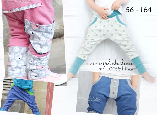 Ebook loose fit Hose für Kinder