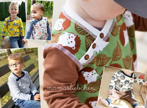 Nähanleitung und Schnittmuster für ein Kinder-Shirt Beanie-Mütze