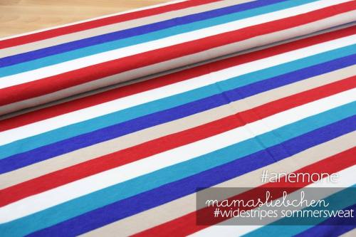 Sommer-Sweat-Stoff #widestripes