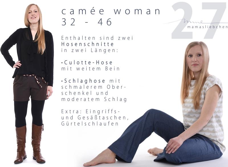 Nähanleitung und Schnittmuster für eine Damenhose
