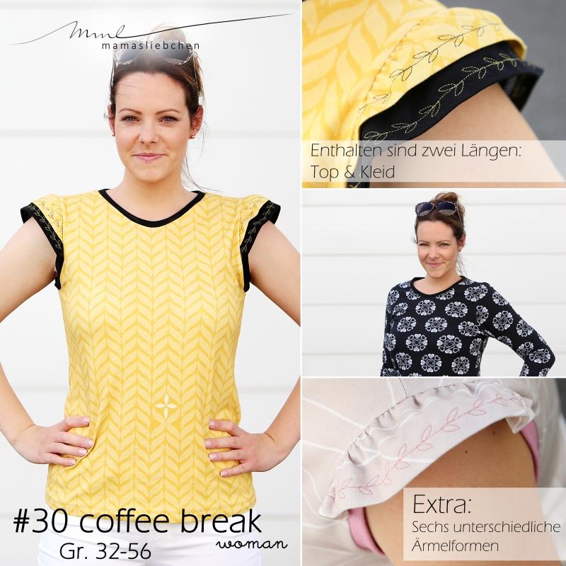 Nähanleitung und Schnittmuster für ein Damen-Shirt / Oberteil
